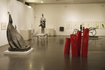 Flussi, 2013, veduta della mostra Flussi, GNAM, Raccolta Manzù, Ardea, 2013