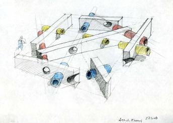 """Progetto """"Labirinto d'innesti"""" per parco giochi, 2006"""