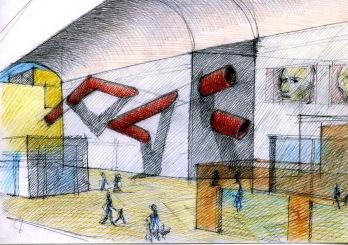 """Disegno per """"Innesto urbano"""" 2006"""