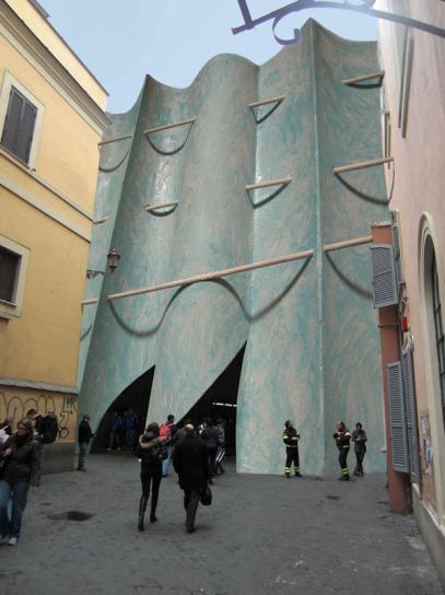 """""""Partitura urbana"""", 2009. Progetto per sistemazione ingresso metropolitana di Piazza di Spagna (Roma)"""