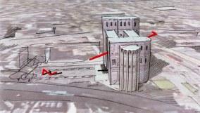 """Idea per """"Segnali urbani"""", intervento sulla Porta Nigra di Treviri (Germania), 2010"""
