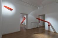 Veduta dell'allestimento della mostra Oi diàlogoi, Centro di Sarro, Roma, 2015