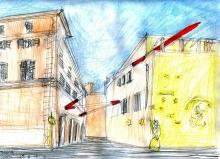 """Studio per """"Traccia"""", Palazzetto Canova, Roma, 2016"""
