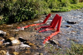 Flussi - Panta rei. Scultura ambientale sul fiume Crati, 2017