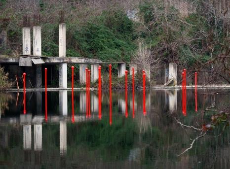 Installazione ambientale sul Lago ex Snia di Roma